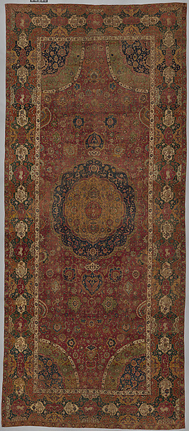 The Seley Carpet, Silk (warp), cotton (weft), wool (weft and pile); asymmetrically knotted pile