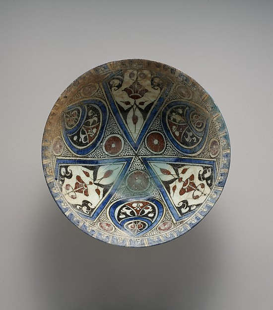 Bowl, Stonepaste; polychrome painted under transparent glaze