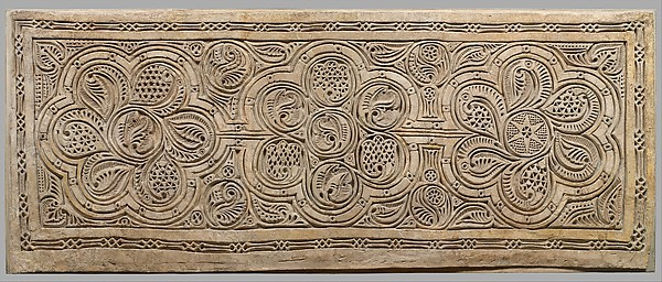 Dado Panel, Stucco; carved