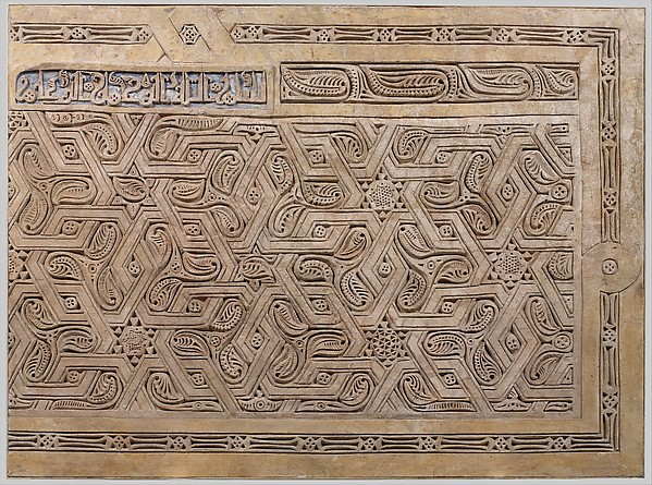 Dado Panel, Stucco; carved, with some cast plaster elements
