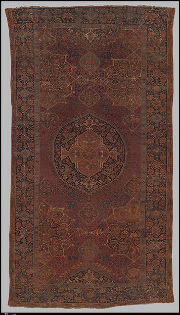 """Medallion Ushak"" Carpet, Wool (warp, weft, and pile); symmetrically knotted pile"