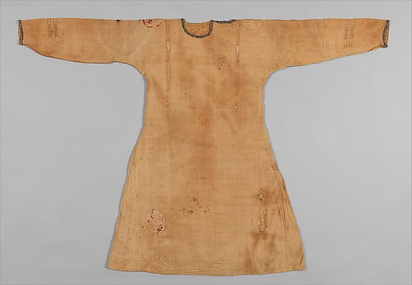 Tunic, Linen, wool, and silk