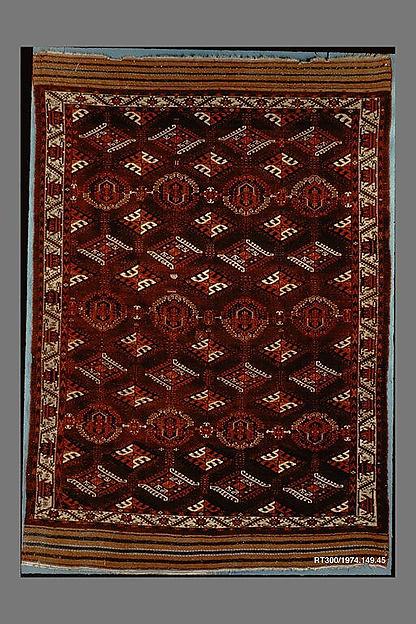 Yomut Main Carpet, Wool, cotton