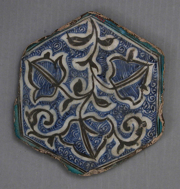 Hexagonal Tile, Composite body; glazed