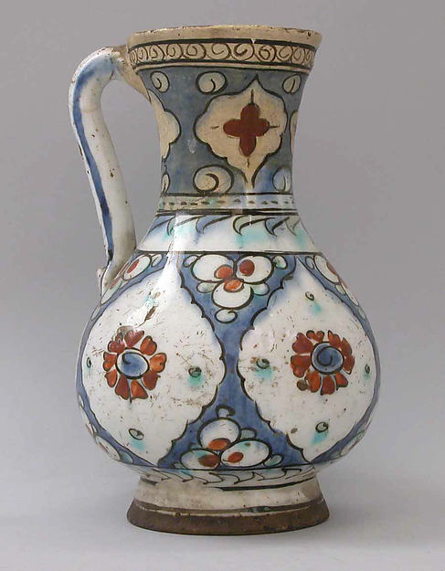 Ewer, Stonepaste; glazed