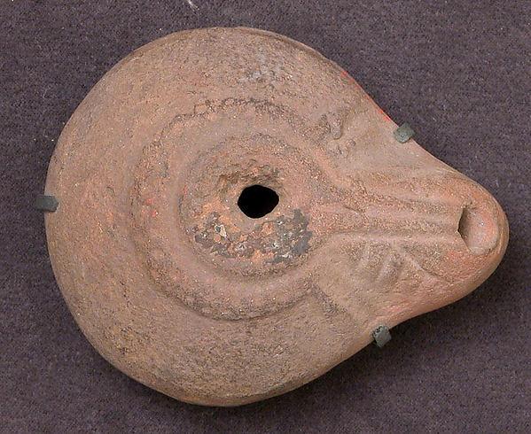 Lamp, Earthenware; molded