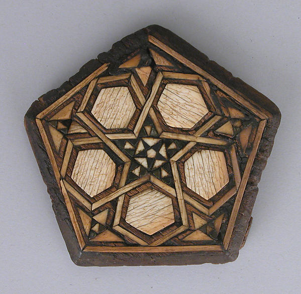 Panel, Wood; carved, inlaid with ivory