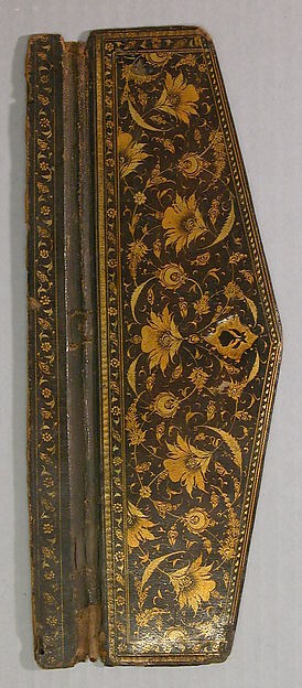 Flap of a Bookbinding (Jild-i kitab), Leather; painted,  gilded, and lacquered