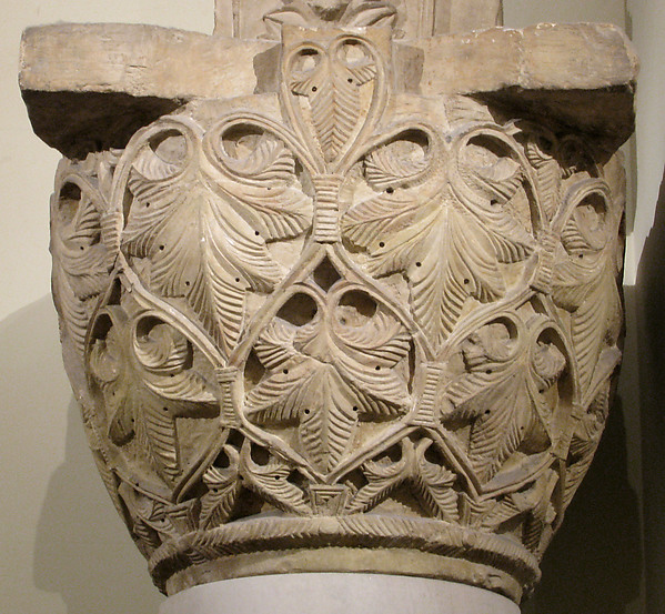 Capital with a Pattern of Leaves and Vines, Limestone