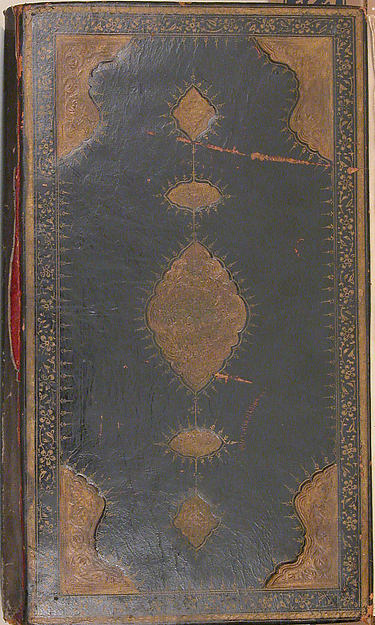 Kulliyat (Complete Works) of Sa'di, Sa'di (1213/19–92), Ink, watercolor, and gold on paper; binding; dark tan leather with blind-pressed decoration