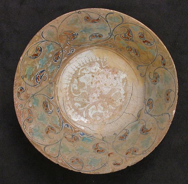 Bowl, Earthenware; tin-enameled