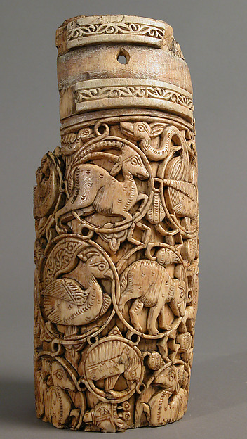 Fragment of an Oliphant, Ivory; carved