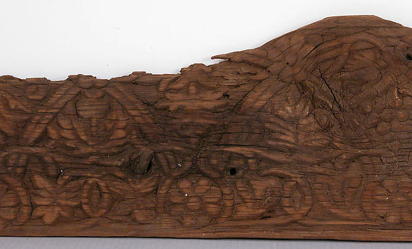 Panel, Wood; carved