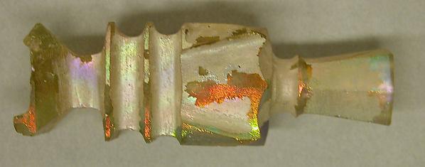 Bottle, Glass; wheel-cut