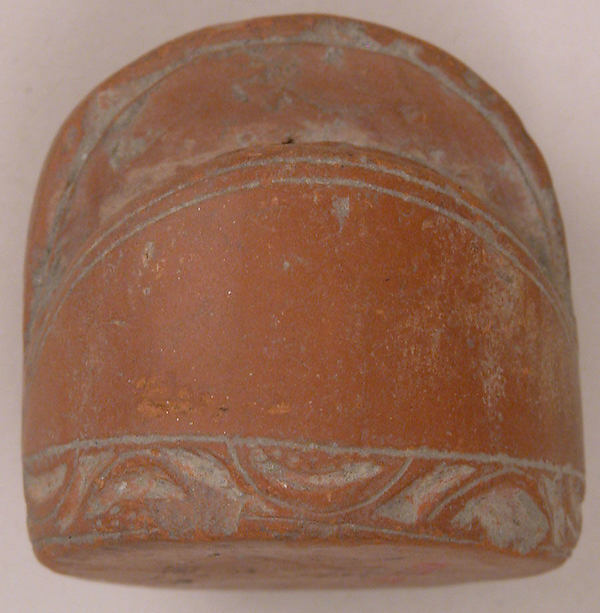 Chess Piece, King, Terracotta; incised