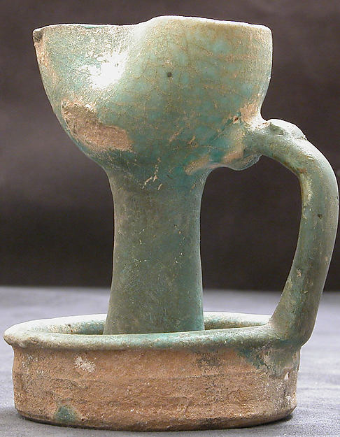 Lamp, Earthenware; glazed