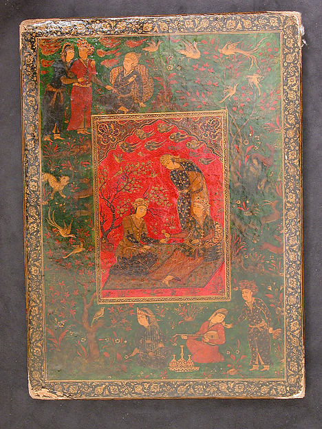 Mirror Case, Papier-maché; painted, gilded and lacquered with varnish