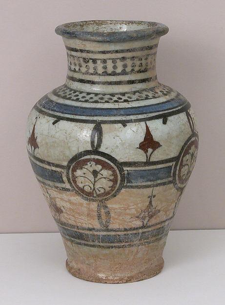 Jar, Stonepaste; polychrome painted under a transparent glaze