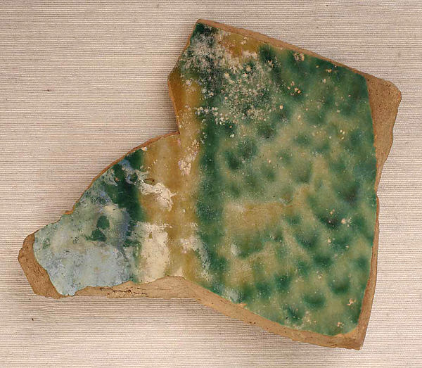 Fragments, Earthenware; painted on opaque white glaze