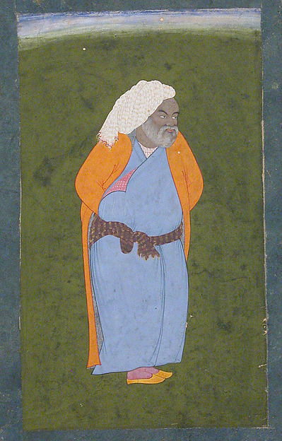 Elderly Man of Isfahan, Opaque water color on paper