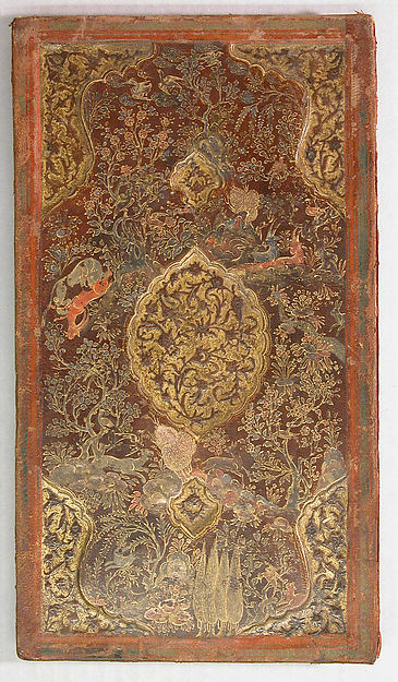 Bookbinding (Jild-i kitab), Leather; painted, embossed, and tooled