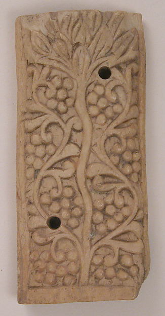 Plaque, Bone; carved