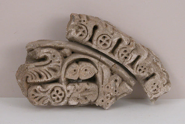Fragment, Plaster; molded and unpainted