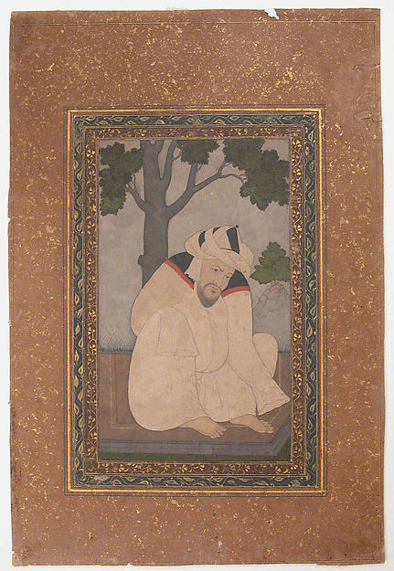 Portrait of a Sufi, Ink, opaque watercolor, and gold on paper