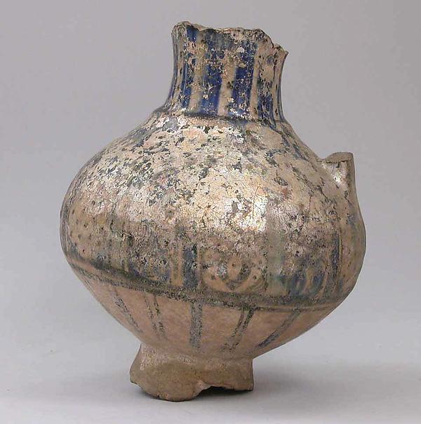 Fragmentary Ewer, Earthenware; glazed