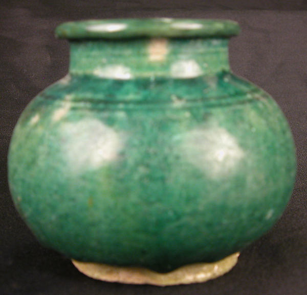 Vase, Earthenware; glazed and luster-painted