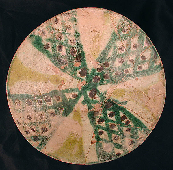 Bowl, Earthenware; underglaze painted and incised decoration under monochrome transparent glaze