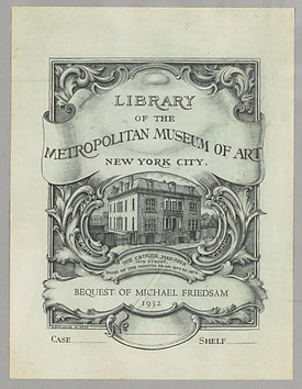 Library of the Metropolitan Museum of Art bookplate