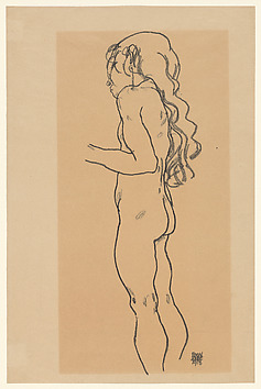 Standing Nude Girl, Facing Left