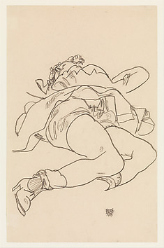 Reclining Woman with Raised Skirt