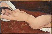 Reclining Nude, Amedeo Modigliani (Italian, Livorno 1884–1920 Paris), Oil on canvas