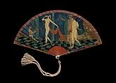 Fan, George Barbier (French, Nantes 1882–1932 Paris), Painted ivory, metal, silk, gilding