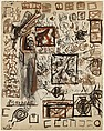 Untitled (Sheet of Studies), Jackson Pollock (American, Cody, Wyoming 1912–1956 East Hampton, New York), Ink, gouache, watercolor, colored pencils and graphite pencil on paper