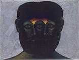 Untitled, # 8, Lucas Samaras (American (born Greece), Kastoria, 1936), Colored pencil on black paper
