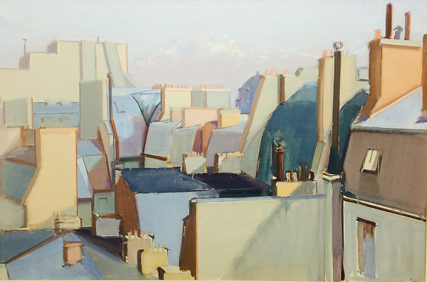 Roofs, Paris, Jean Hélion (French, Couterne 1904–1987 Paris), Oil on canvas