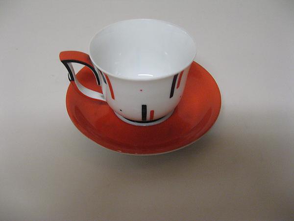 Teacup and saucer, Josef Hoffmann (Austrian, Pirnitz 1870–1956 Vienna), Porcelain