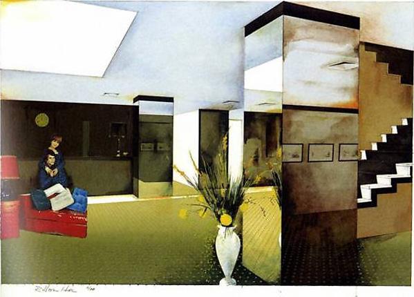 Lobby, Richard Hamilton (British, London 1922–2011 Oxfordshire), Silkscreen (edition 56/88)