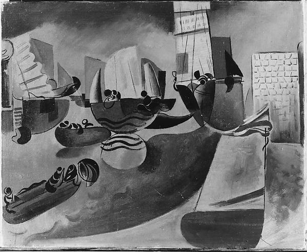 Harbour, Wyndham Lewis (British (born Canada), Amherst 1882–1957 London), Oil on canvas