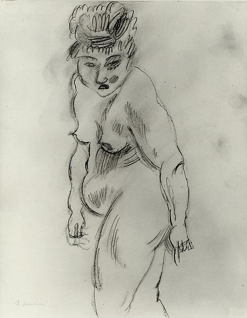Nude Woman, Jules Pascin (American (born Bulgaria), Vidin 1885–1930 Paris), Graphite and charcoal on paper