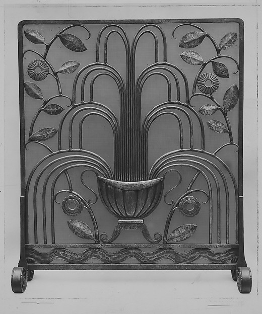 """""""La Fontaine"""" (""""The Fountain"""") Fire Screen, Edgar Brandt (French, Paris 1880–1960), Iron, French"""