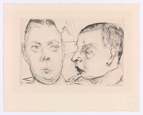 Two Officers, Max Beckmann (German, Leipzig 1884–1950 New York), Drypoint