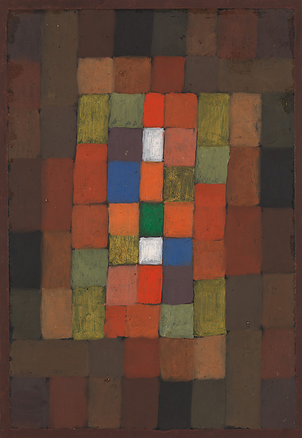 Static-Dynamic Gradation, Paul Klee (German (born Switzerland), Münchenbuchsee 1879–1940 Muralto-Locarno), Oil and gouache on paper bordered with gouache, watercolor, and ink, mounted on cardboard