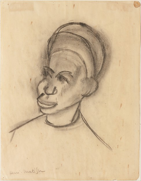 A Sudanese, Henri Matisse (French, Le Cateau-Cambrésis 1869–1954 Nice), Charcoal on paper