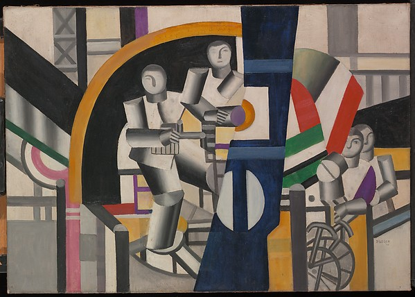 The Builders, Fernand Léger (French, Argentan 1881–1955 Gif-sur-Yvette), Oil on canvas