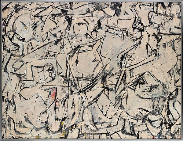 Attic, Willem de Kooning (American (born The Netherlands), Rotterdam 1904–1997 East Hampton, New York), Oil, enamel, and newspaper transfer on canvas