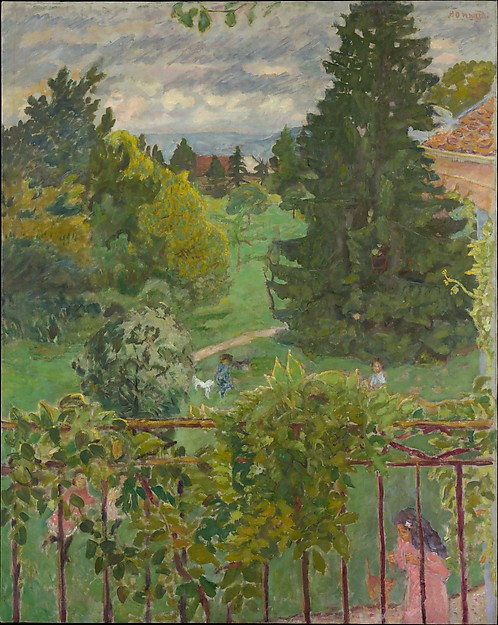 From the Balcony, Pierre Bonnard (French, Fontenay-aux-Roses 1867–1947 Le Cannet), Oil on canvas